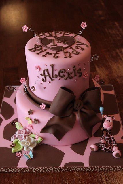 Alexis Loves Giraffes Pastel De Cupcakes Foto Pastel Y