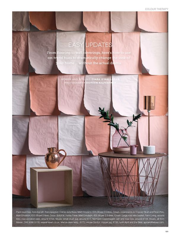 Interior Prop Stylist Ireland Ciara Ou0027halloran Copper Blush