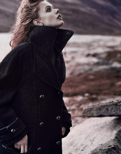 """""""Love is a letter sent a thousand times"""" Frida Gustavsson by Boe Marion for SSAW Magazine Scandinavia. Shot on the beautiful mountains of Norway, the vibrant images pull you into a lush world that is rustic and refined at the same time."""
