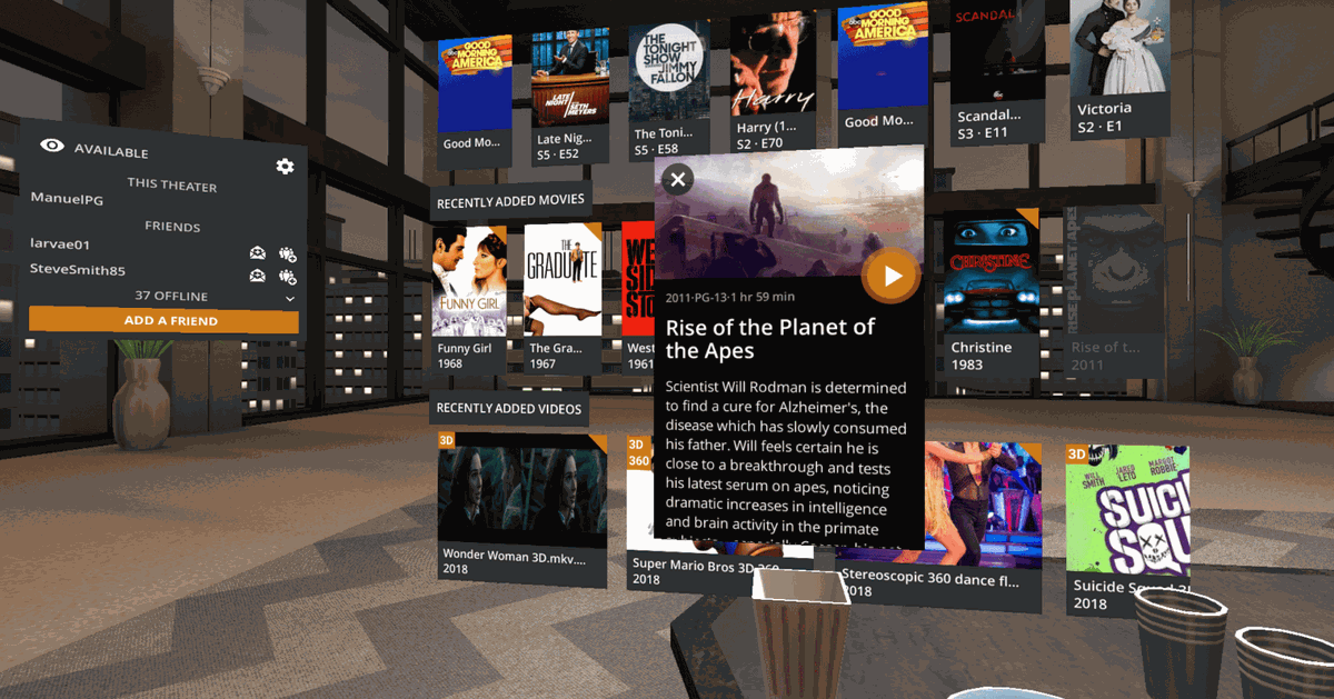 Now you can watch Plex in virtual reality with Google