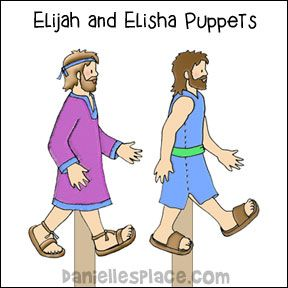 Elijah And Elisha Stick Puppets From Www Daniellesplace