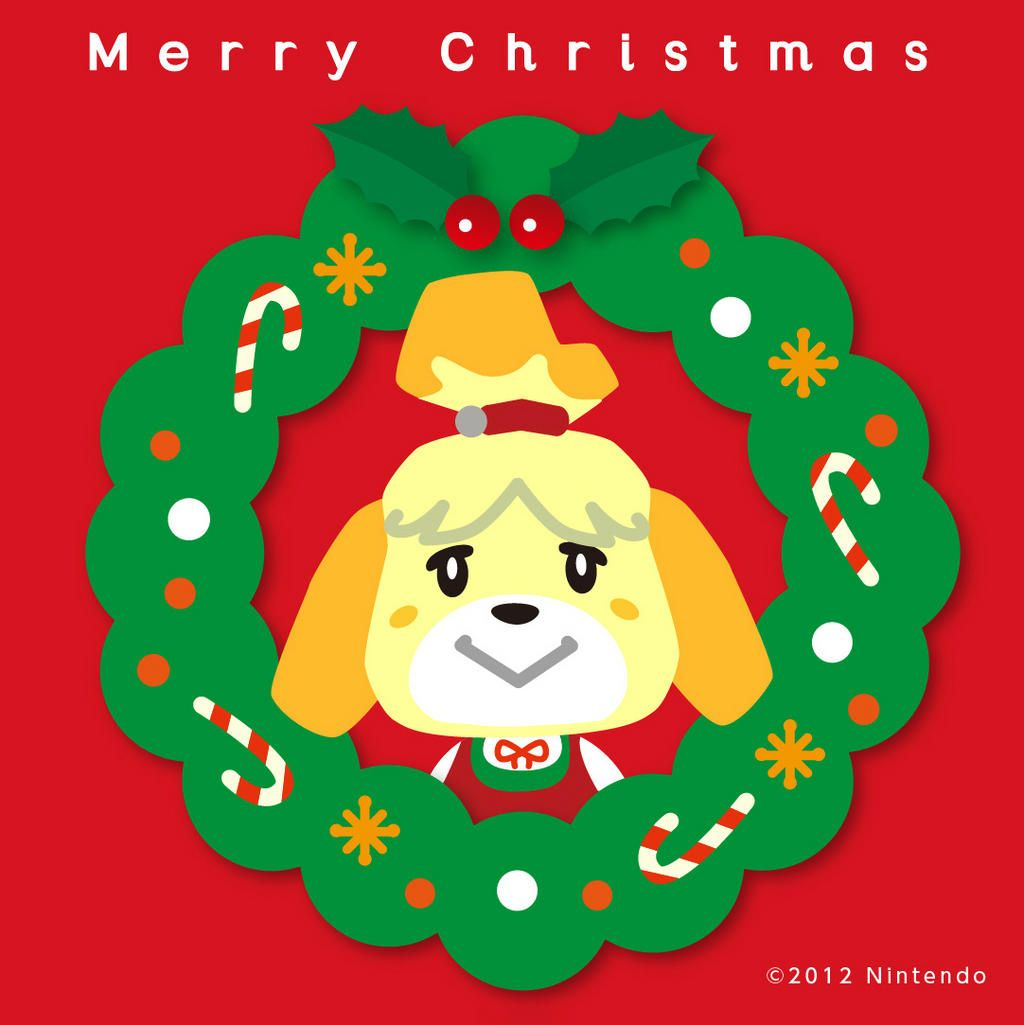 Isabelle Christmas | Animal Crossing | Pinterest | Animal Crossing ...