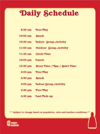 Infant Toddler Schedule Everything Daily Schedule Template