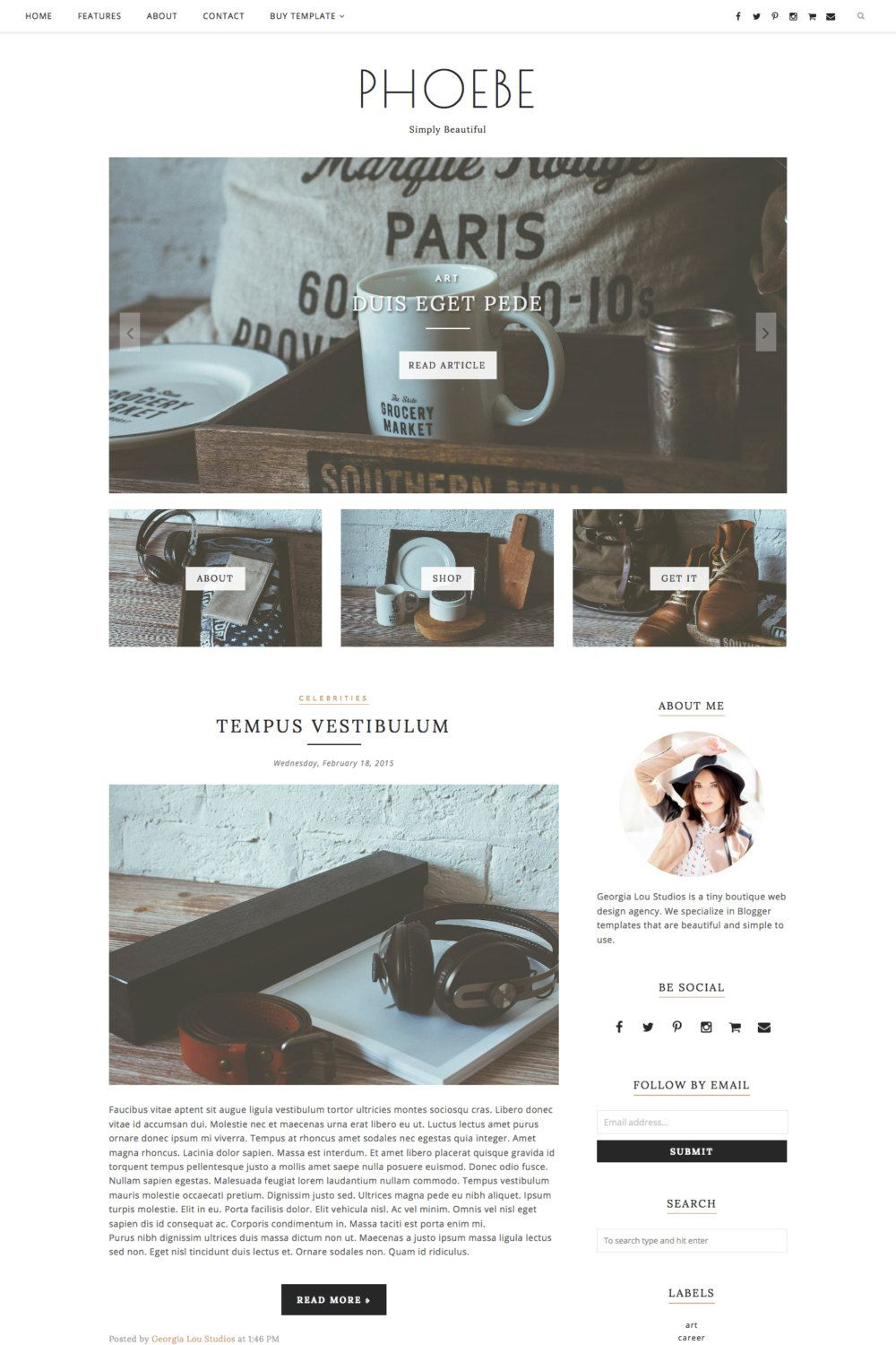Premade Blogger Template - Responsive Blog Theme - Customizable ...