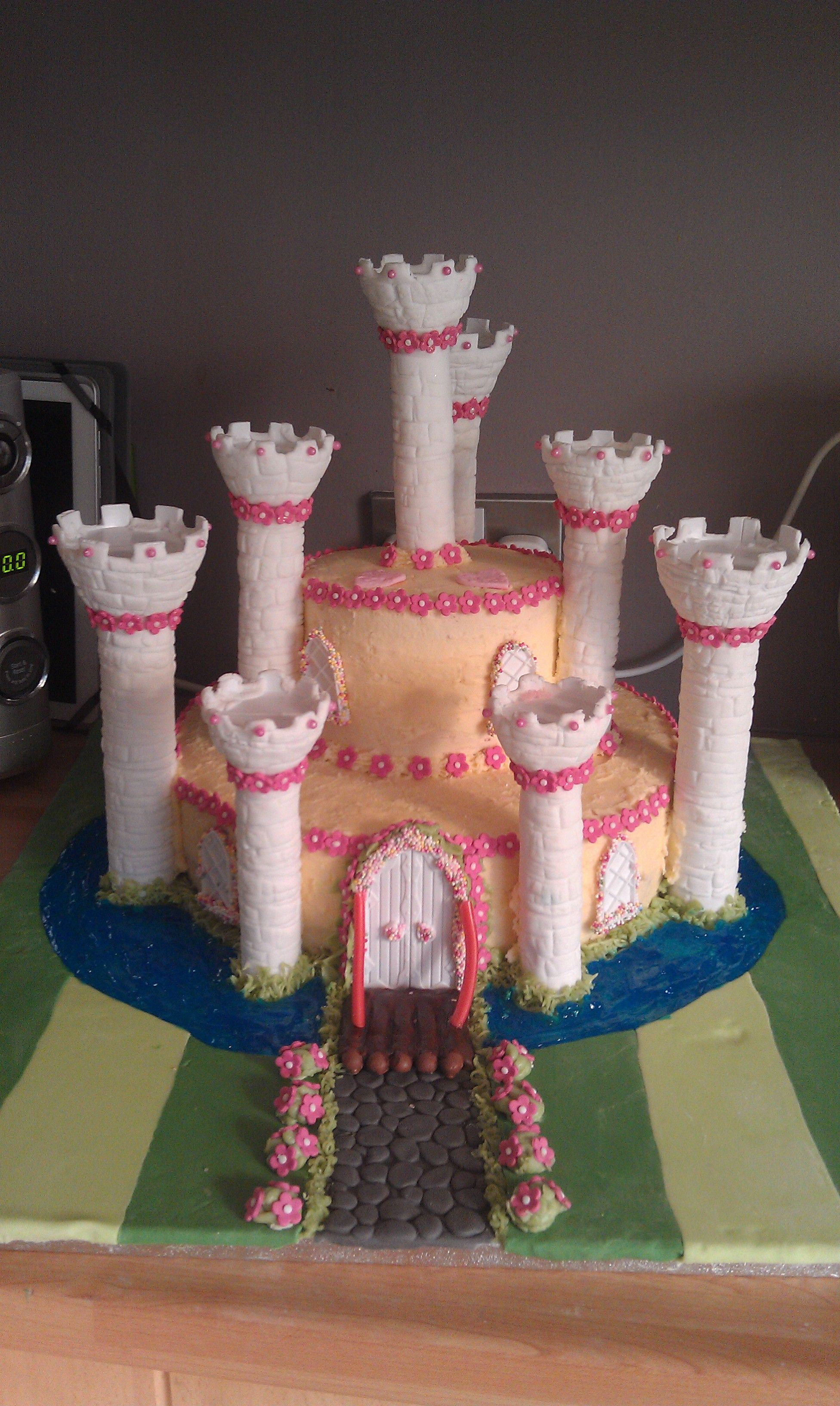 Princess Castle Cake - almost completed