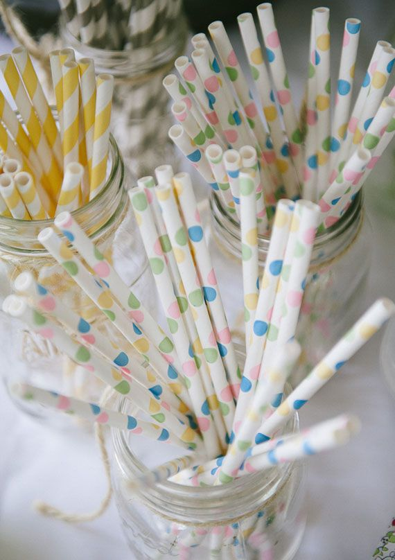 Colorful paper straws | 100 Layer Cake