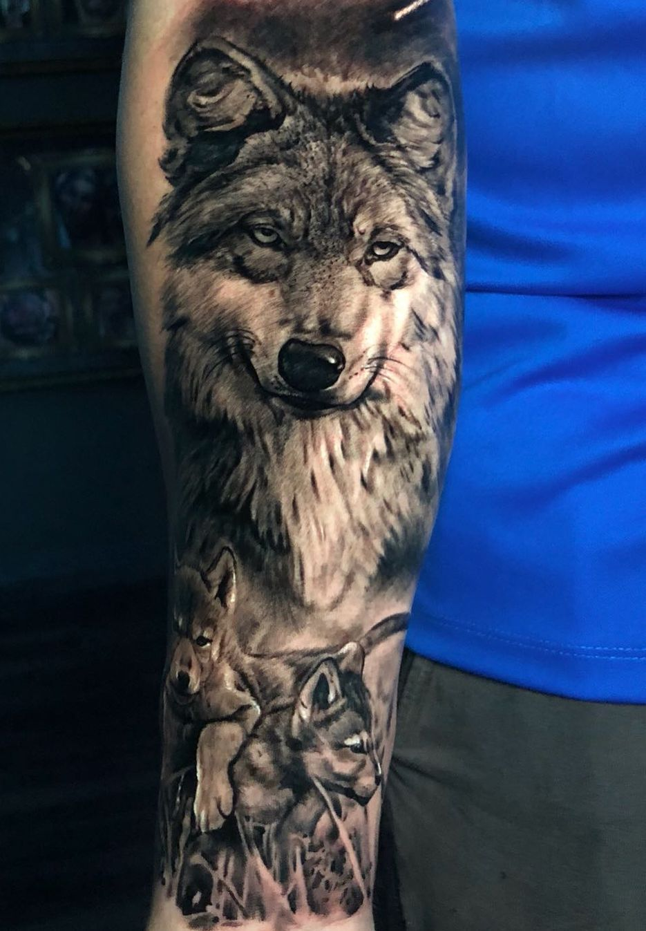 50 Of The Most Beautiful Wolf Tattoo Designs The Internet Has Ever Seen Awesome Black Gray Wolf Tattoo In 2020 Wolf Tattoo Sleeve Wolf Tattoo Design Wolf Tattoos