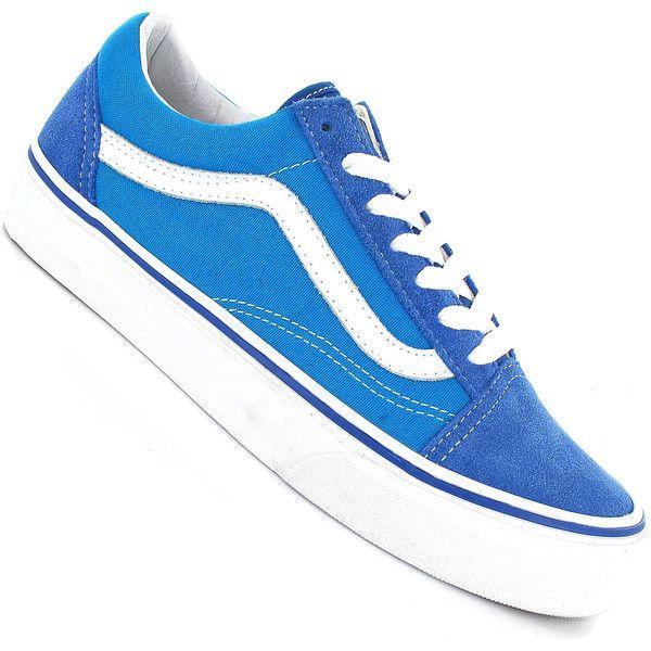 249563901c Vans Old Skool Shoe women (classic blue hawaiian ocean) (235 BRL) ❤ liked  on Polyvore featuring shoes