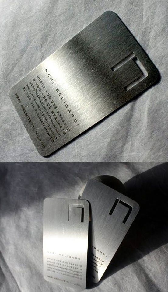 Steel Metal Business Cards | Cool Paper | Pinterest | Awesome ...