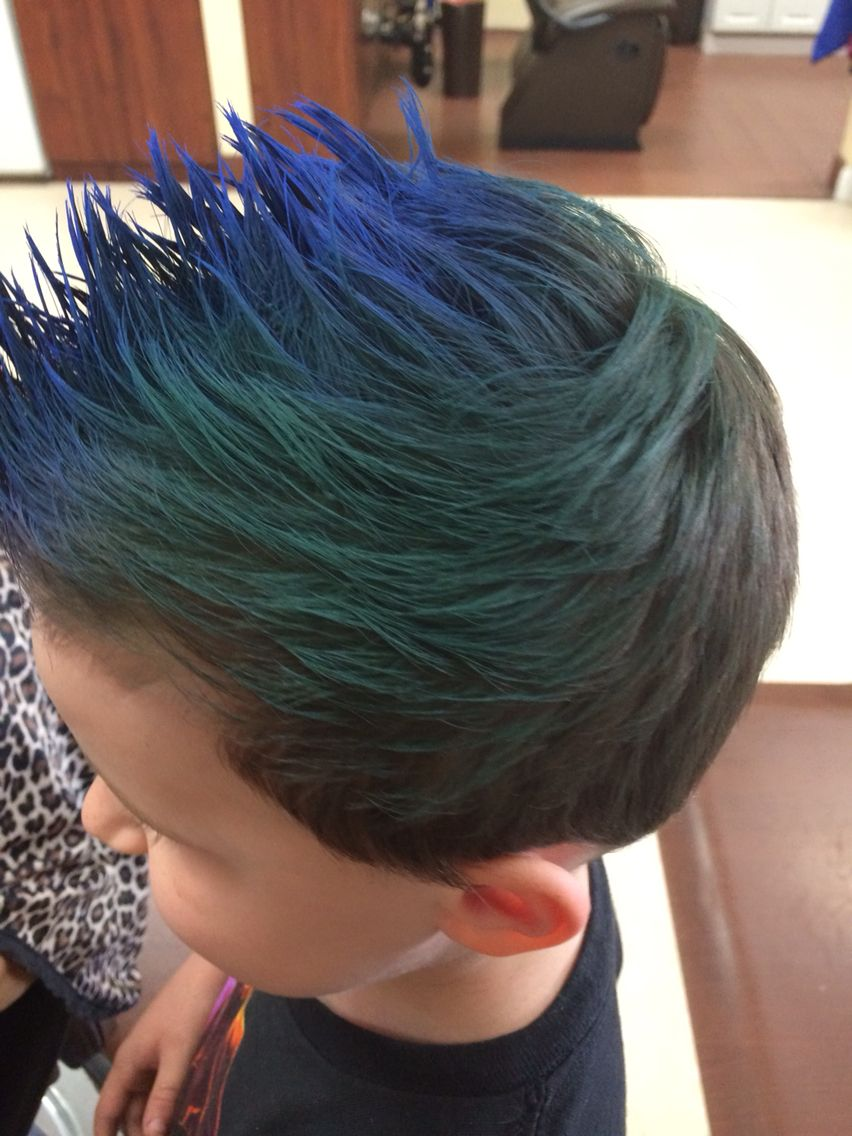 My Client Fohawk Little Boy Hair Blue Hair Green Hair