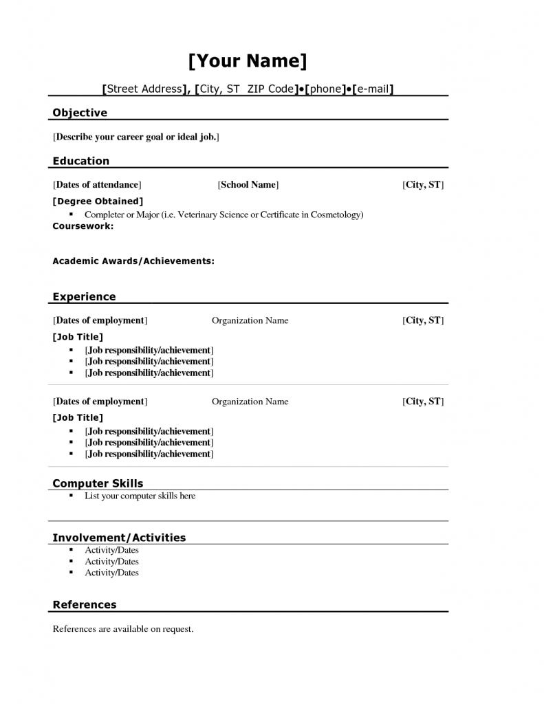 Teenage Resume Examples Teenage Resume Builder Templates And Teen Sample Cover Letter .