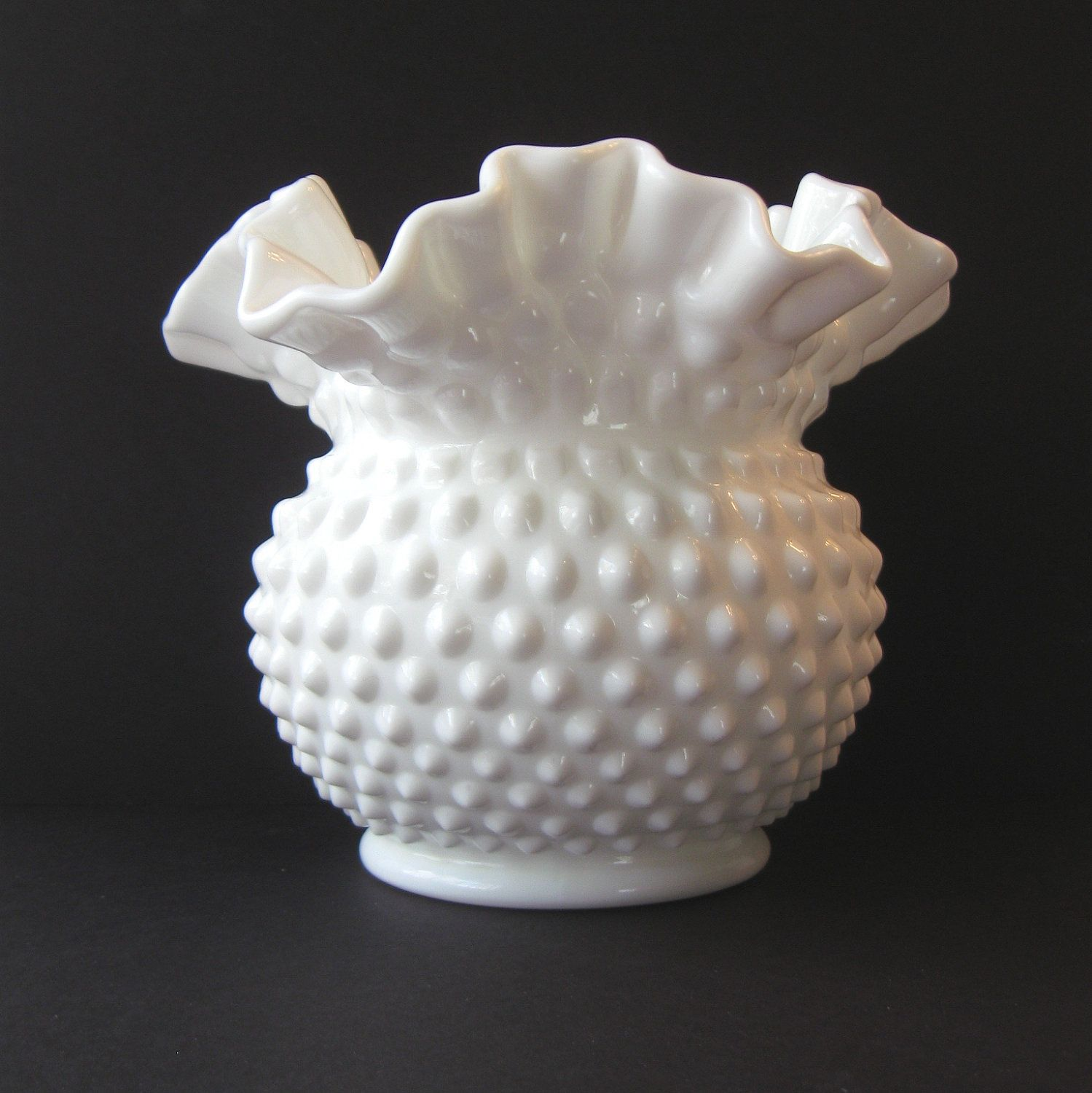 Fenton white hobnail milk glass ebay this item sold on may 31 image detail for fenton milk glass hobnail vase with ruffled by oldmotherscupboard reviewsmspy