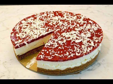 Photo of Spaghetti ice cream cake without baking – delicious quark strawberry cake