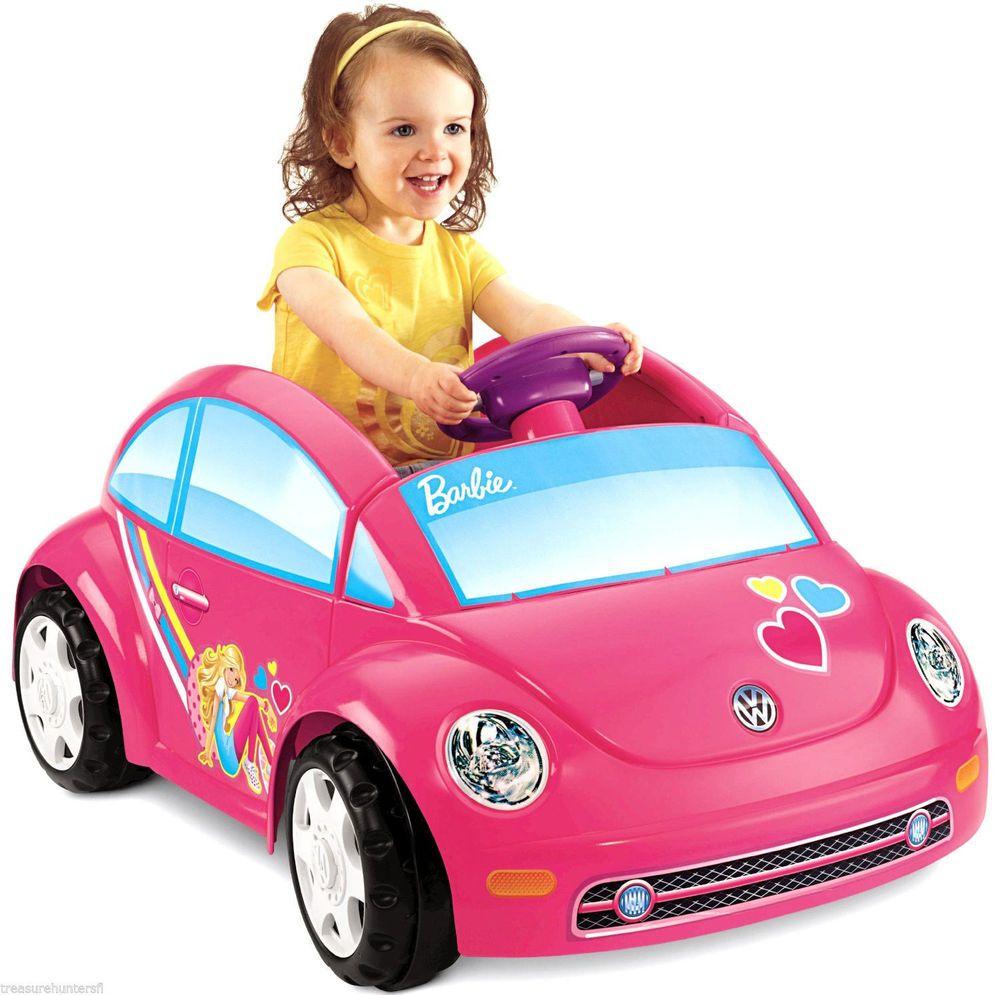 Power Wheels Barbie Volkswagen Beetle Girls Kids Drive Ride On Toy