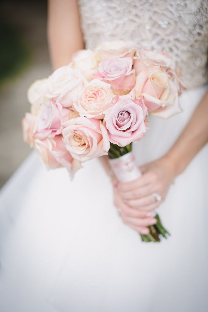 Blush roses bridal bouquet   fabmood.com