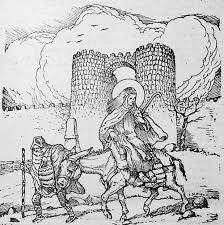 Teresa en su carromato, por los caminos de Dios (Puerta de S. Vicente)