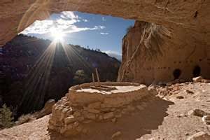 Kiva, Ceremonial Cave, Bandelier National Monument, NM