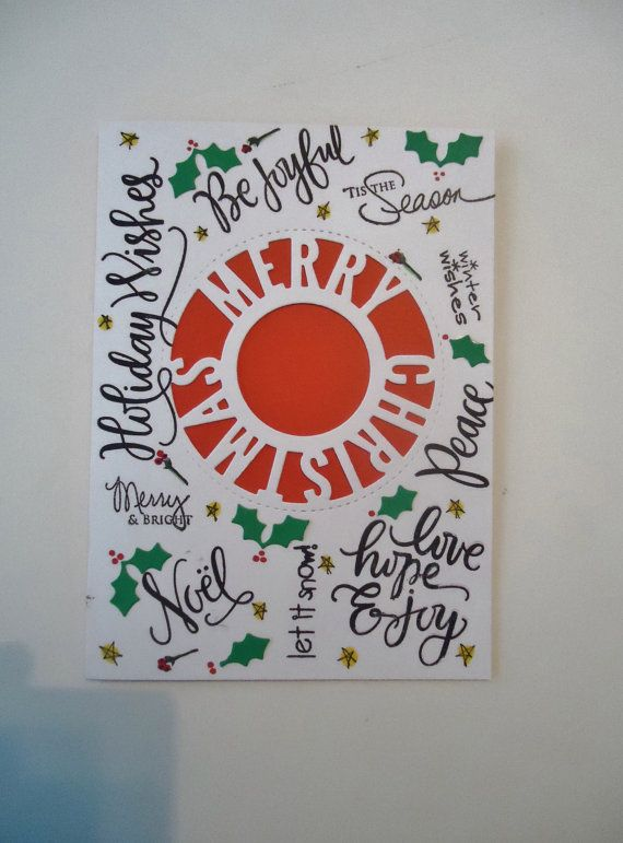 merry christmas handmade greeting card modern and