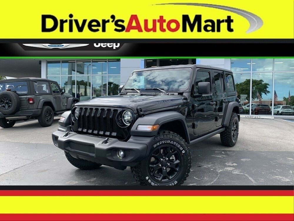 2020 Jeep Wrangler Unlimited Willys Wheeler 2020 Jeep Wrangler Unlimited Willys Wheeler 15 Mil In 2020 Jeep Wrangler Unlimited Jeep Wrangler For Sale New Jeep Wrangler
