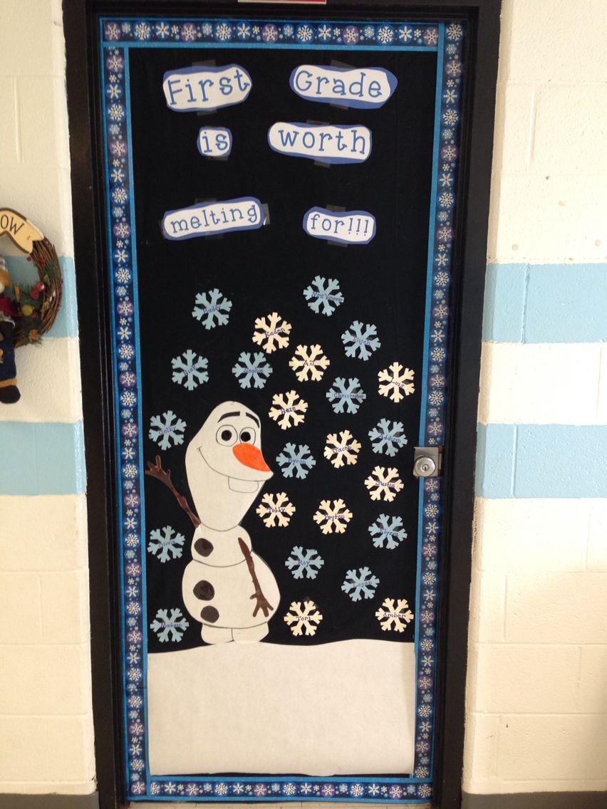 Frozen Themed Classroom Door Classy Classroom Ideas