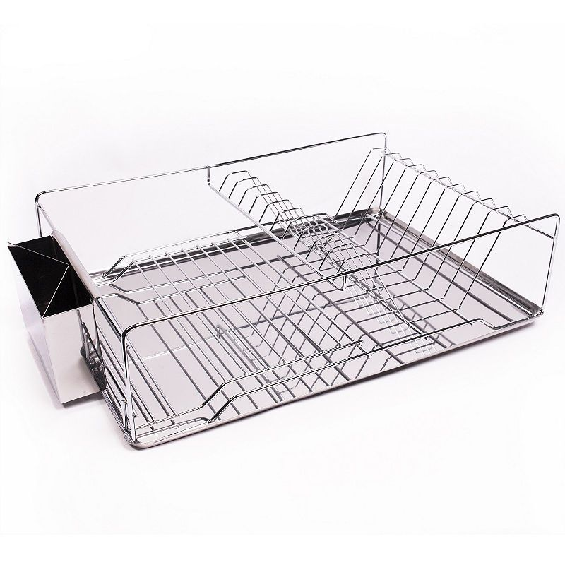 Home Basics 3 Piece Stainless Steel Chrome Kitchen Sink Dish