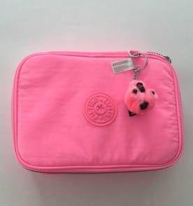 005ecdb85 estojo escolar kipling 100 peças rosa claro neon | Bags ...