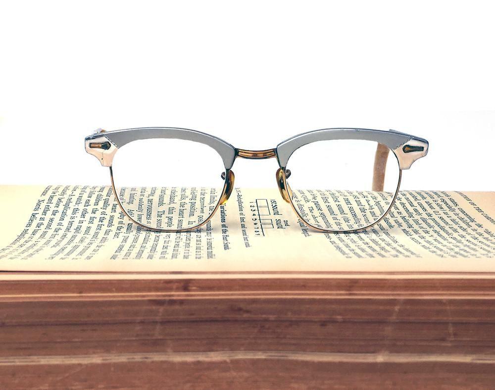 d93b1e5430a Vintage Shuron Horn-rimmed Aluminum 12K Gold Filled Frame 5 3 4 Eyeglasses