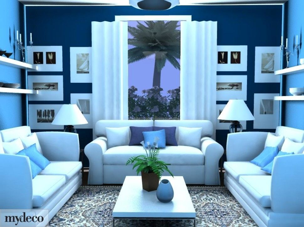 cool colors blue green violet living room - Cool Colors For Living Room