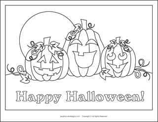 Free Halloween coloring pages  pumpkins  Halloween coloring