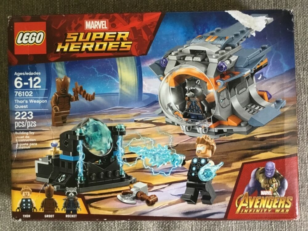 LEGO 76102 Marvel Avengers Infinity War Thor's Weapon Quest Playset Thor Rocket
