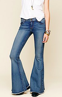 Le jeans à pattes d'éléphant. Free People. #Fashion