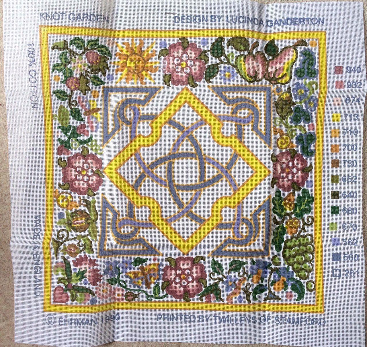 Ehrman Tapestry Needlepoint Kit Knot Garden Lucinda Ganderton