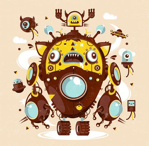 amazing vector art character
