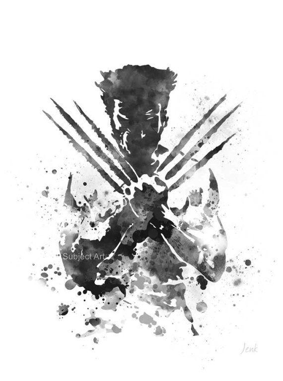 Lobezno inspirada ilustración ART PRINT Logan X-Men Marvel
