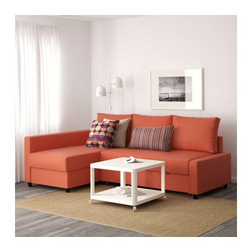 Friheten Sleeper Sectional 3 Seat W Storage Skiftebo Dark Orange Ikea