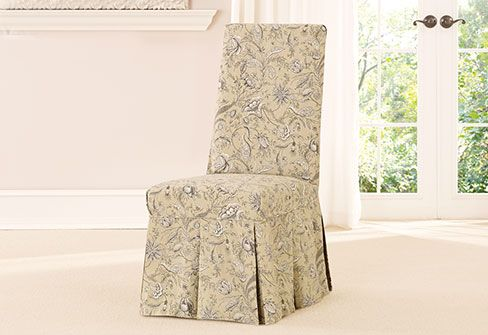 Sure Fit Slipcovers Fanciful Floral By Waverly™ Long Dining Chair Slipcover    Dining Chair Cover