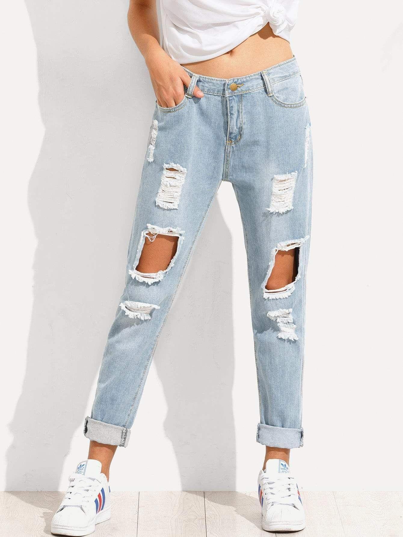 Photo of Distressed Boyfriend Jeans