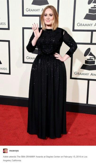 Adele @ 2016 Grammy's