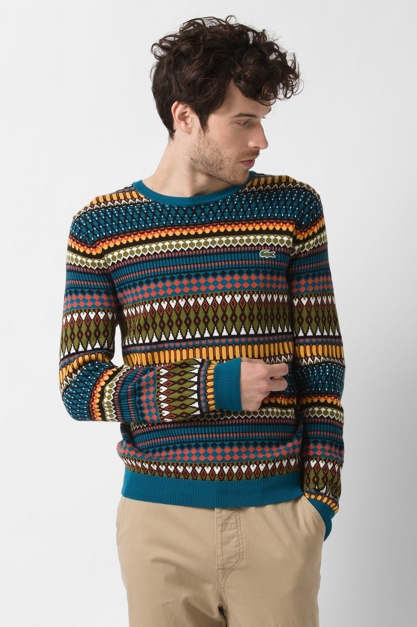 5c9e31bfe8e1 of course this would be out of stock! Lacoste L!VE Aztec Pattern Sweater