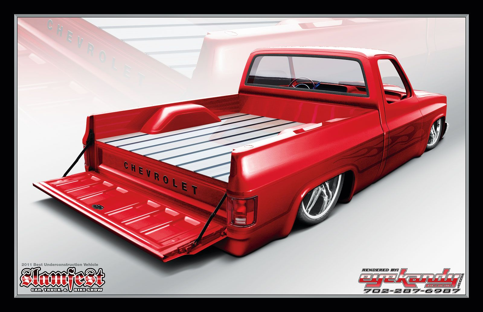 C10 Square Body With Neat Raised Bed Floor Cover Chevy
