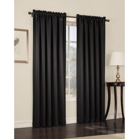 Sun Zero Kylee Energy Efficient Rod Pocket Curtain Panel Walmart Com Panel Curtains Curtains Blackout Curtains