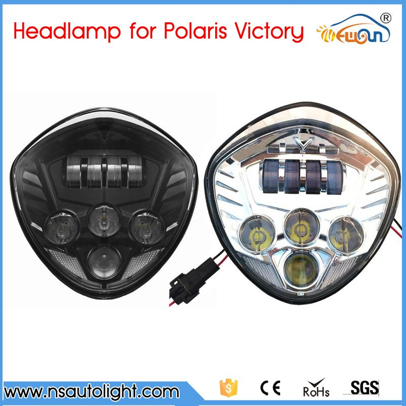 Motor Accessories Black Chrome Led Headlight 40w Front Driving