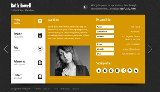 30 free and premium html personal website templates
