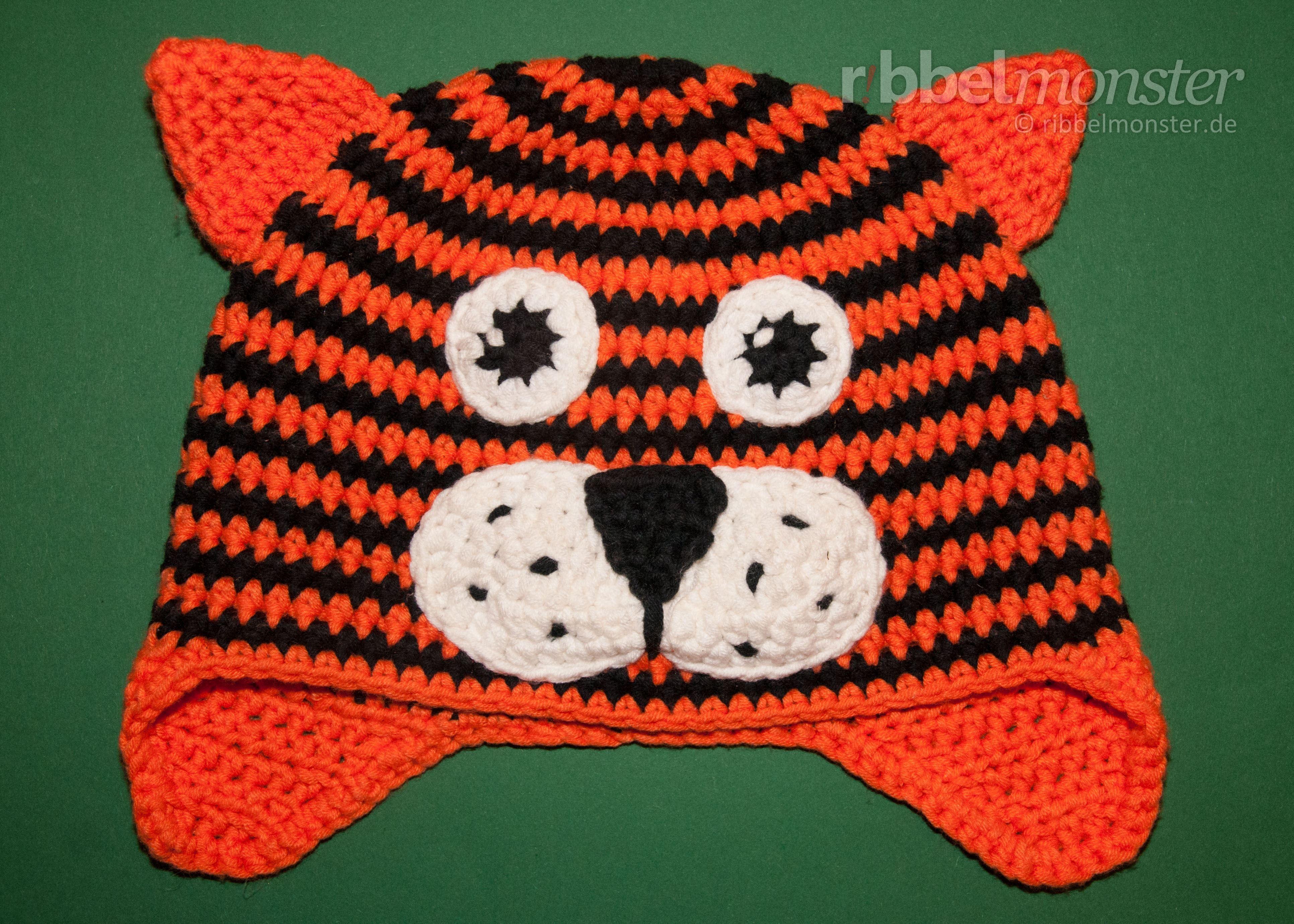 In dieser Häkelanleitung zeige ich dir, wie du eine Tiger Mütze ...