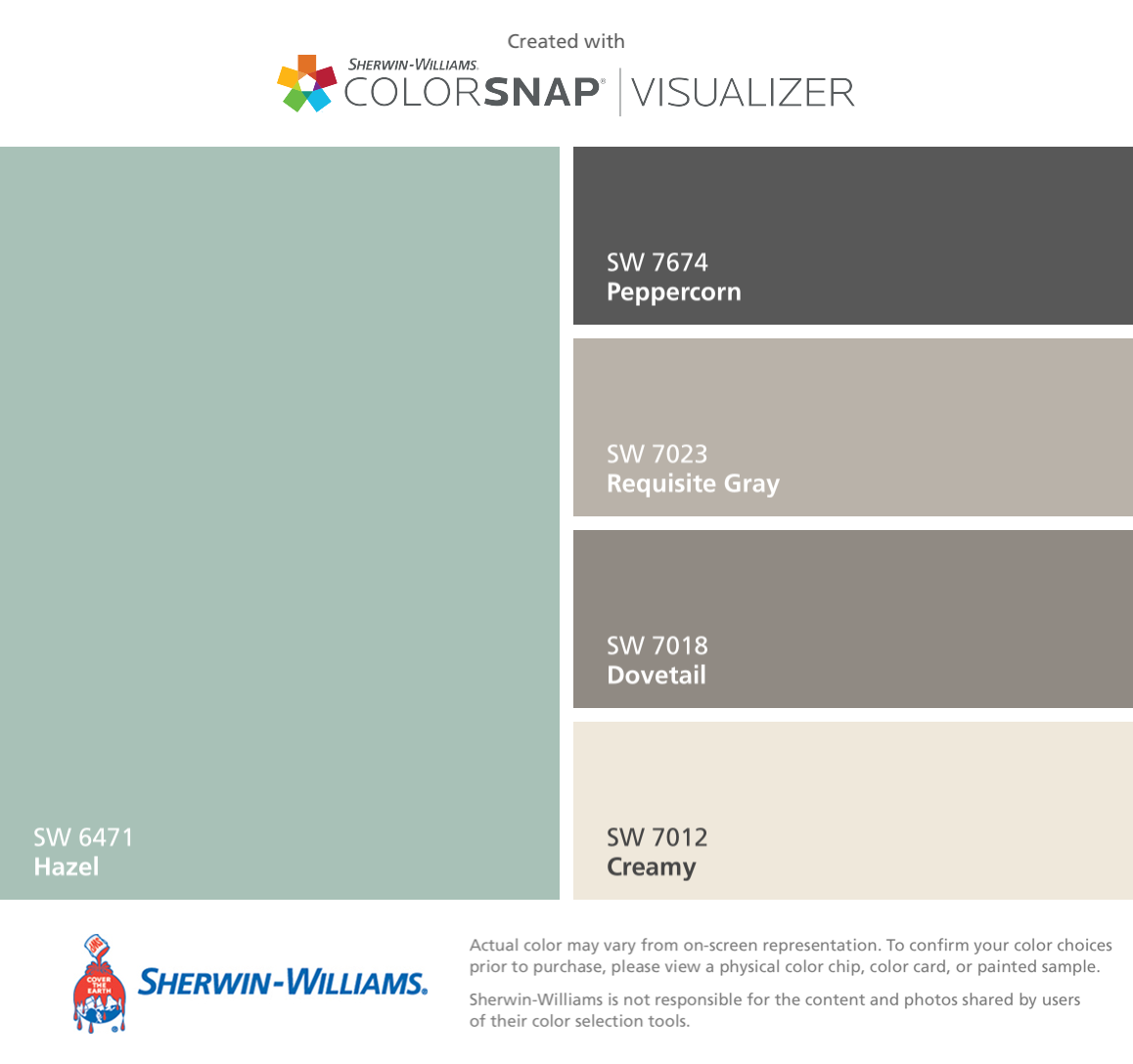 I Found These Colors With ColorSnap® Visualizer For IPhone By Sherwin  Williams: Hazel
