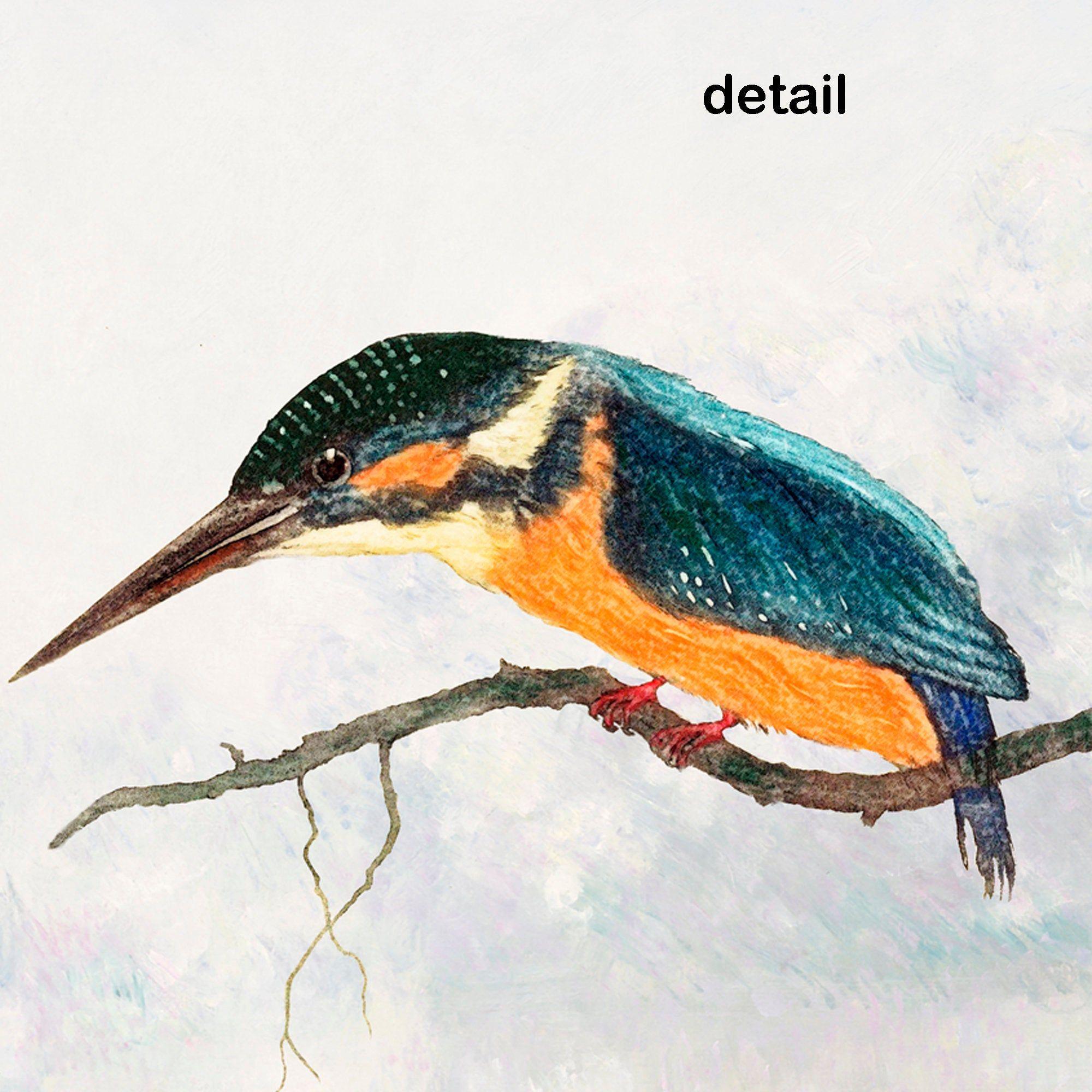 Happy Birthday Bird Card Nature Birthday Card Kingfisher Etsy Custom Greeting Cards Handmade Books Happy Birthday Birds