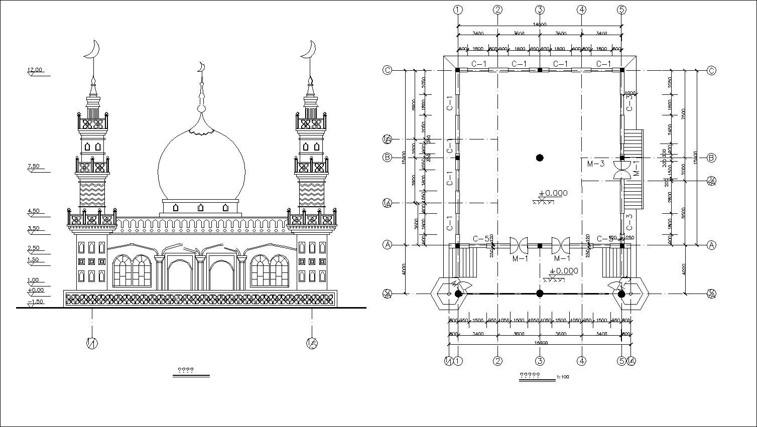 Pin On Mosque Cad Drawings