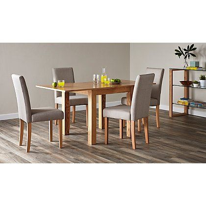 Outstanding Flip Top Ash Dining Table And 4 Upholstered Chairs Oak Download Free Architecture Designs Rallybritishbridgeorg