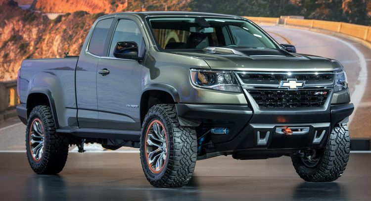 Chevy S Diesel Powered Colorado Zr2 Concept Is One Helluva Cool Truck Carscoops Chevrolet Colorado Chevy Colorado Duramax Chevy Colorado