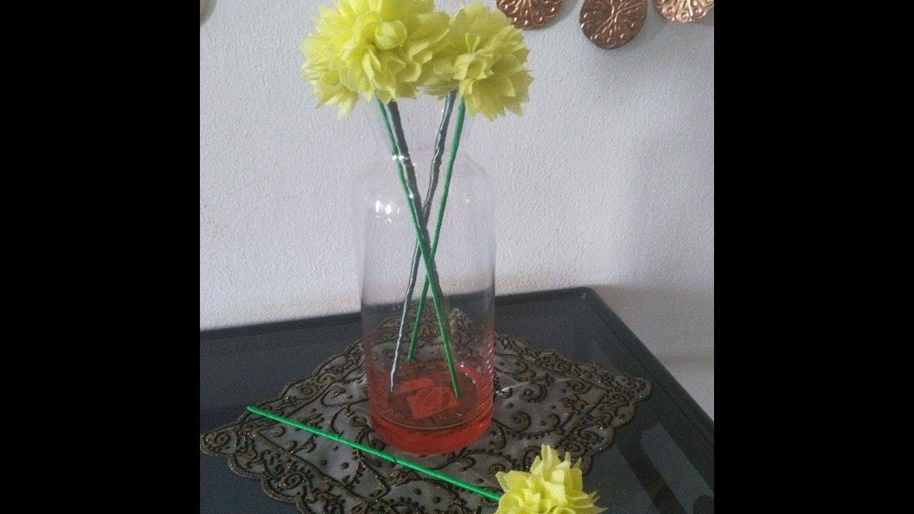 Diy home decor how to make fabric flower bouquet
